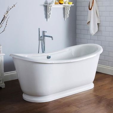 Alfie Round Double Ended Freestanding Bath -1740 x 800mm