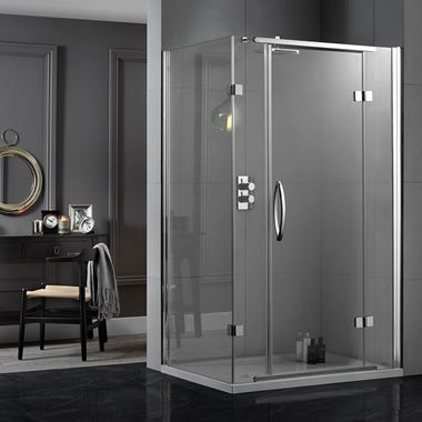 Aquadart Inline 8mm 2 Sided Hinge Door Shower Enclosure