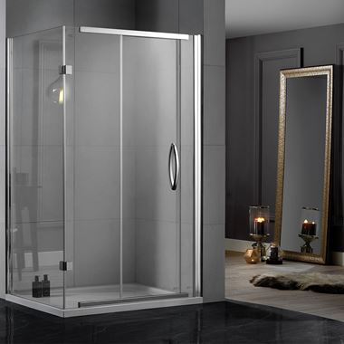 Aquadart Inline 8mm 2 Sided Sliding Door Shower Enclosure