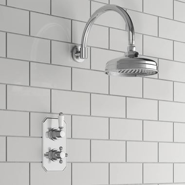 Arabella Traditional Concealed Shower Valve & Fixed Shower Head