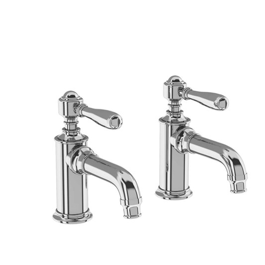 Arcade Chrome Basin Pillar Taps with Levers