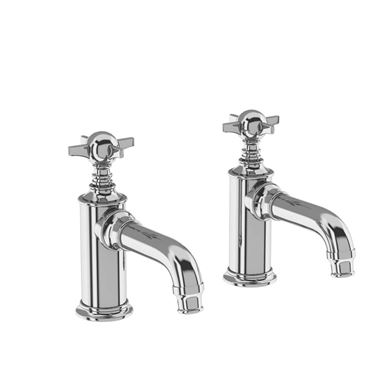 Arcade Chrome Basin Pillar Taps