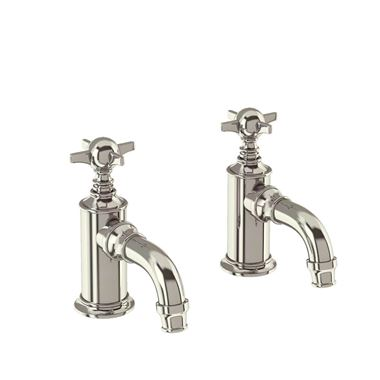 Arcade Nickel Cloakroom Basin Pillar Taps