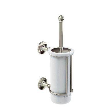 Arcade Nickel Wall Mounted Brush With China Holder