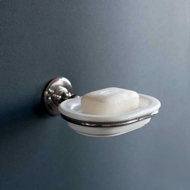 Arcade Nickel Wall Mounted China Soap Dish