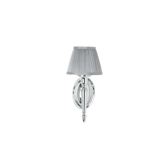 Arcade Oval Base Light with Chiffon Silver Shade
