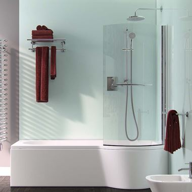 ArmourCast Arco Shower Bath Right Hand (inc leg pack) - 1500 x 855mm
