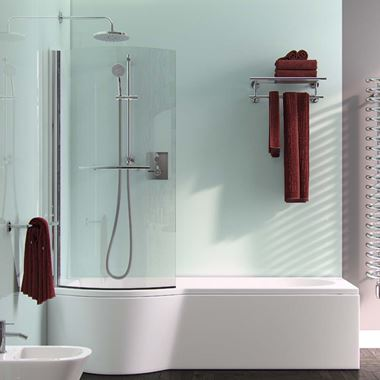 ArmourCast Arco Shower Bath Right or Left Hand (inc leg pack) - 1700 x 855mm