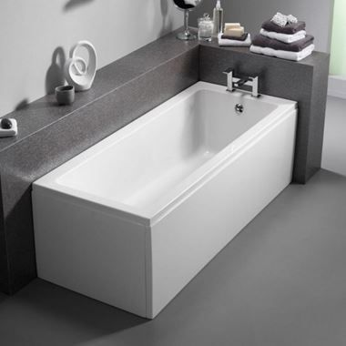 ArmourCast Bloque Small Single Ended Bath (inc leg pack) - 1400mm x 700mm