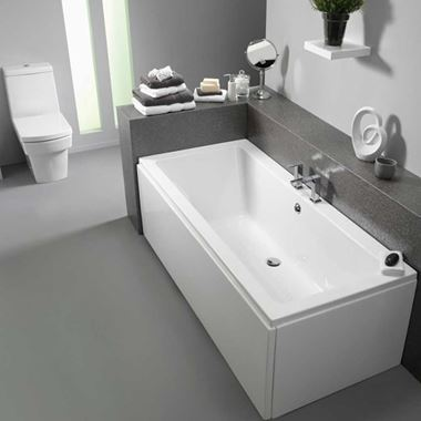 ArmourCast Bloque 1700mm x 750mm Double Ended Bath (inc leg pack)