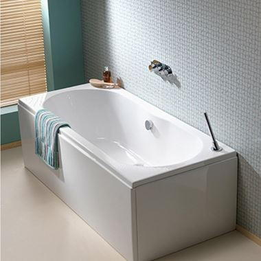 ArmourCast Wave Double Ended Bath (inc leg pack) - 1700 x 750mm & 1800 x 800mm