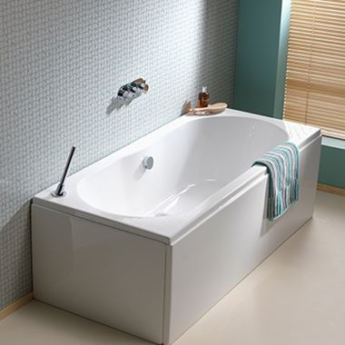 ArmourCast Wave Eco Double Ended Bath (inc leg pack) - 1700 x 750mm