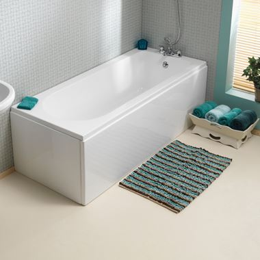 ArmourCast Wave Eco Single Ended Bath (inc leg pack) - 1700 x 700 & 750mm
