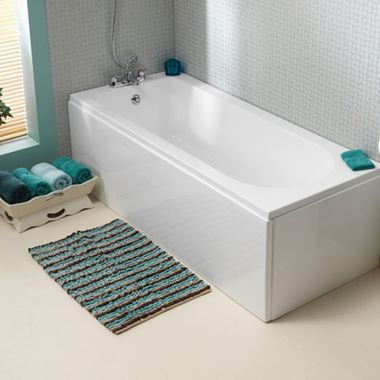 ArmourCast Wave Single Ended Bath (inc leg pack) - 1700 x 700 & 750mm