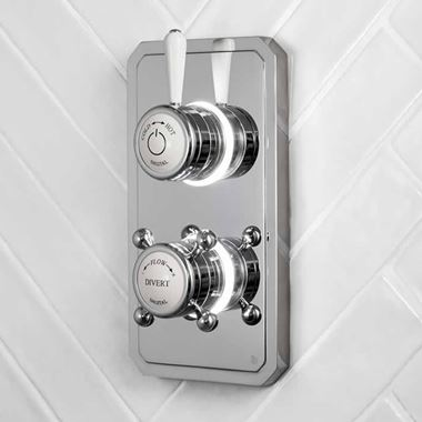 Bathroom Brands Digital Classic 1910 2 Outlet Shower Valve - Low Pressure