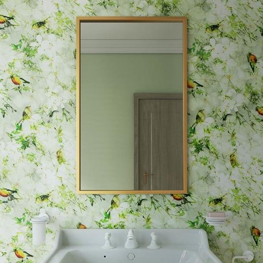 Bathroom Origins Docklands Rectangular, Brushed Stainless Bathroom Mirror