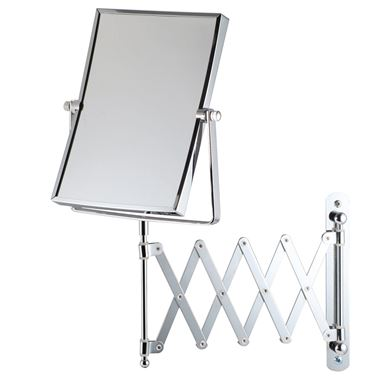 Bathroom Origins Extendable Square 5x Magnifying Wall Mirror - 150 x 205mm