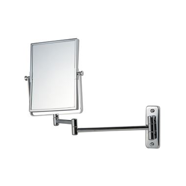 Bathroom Origins Reversible Square Frame Magnifying Wall Mirror - 155 x 205mm
