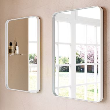 Bathroom Origins City Mirror 500 x 750mm - White