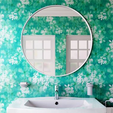 Bathroom Origins Docklands Round Mirror 800mm - White