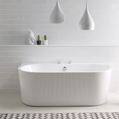 BC Designs Ancora Back to Wall Bath - 1640 x 760mm