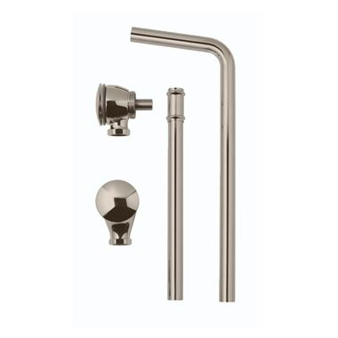 BC Designs Brushed Nickel Push Down Exposed Extended Bath Waste