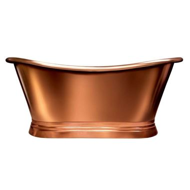 BC Designs Classic Roll Top Copper/Nickel Boat Bath - 1500 x 700mm & 1700 x 725mm