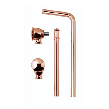 BC Designs Copper Push Down Exposed Extended Bath Waste