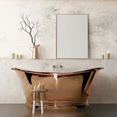 BC Designs Classic Roll Top Copper Boat Bath - 1500 x 700mm & 1700 x 725mm