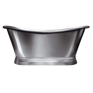 BC Designs Classic Roll Top Nickel Boat Bath - 1500 x 700mm & 1700 x 725mm