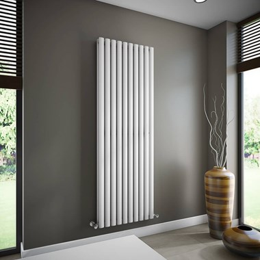 Brenton Oval Double Panel Vertical Radiator - 1800 x 590mm