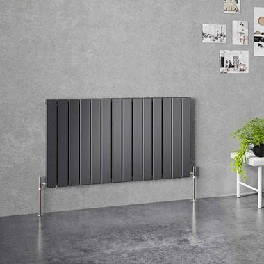 Brenton Flat Double Panel Horizontal Radiator - 1032 x 600mm