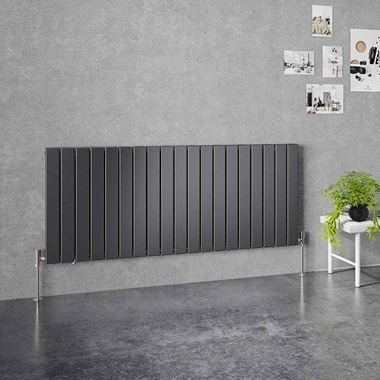 Brenton Flat Double Panel Horizontal Radiator - 1402 x 600mm
