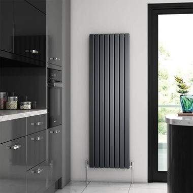 Brenton Flat Double Panel Vertical Radiator - 475 x 1600mm