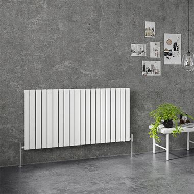 Brenton Flat Single Panel Horizontal Radiator - 1254 x 600mm