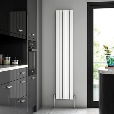 Brenton Flat Single Panel Vertical Radiator - 1800 x 340mm
