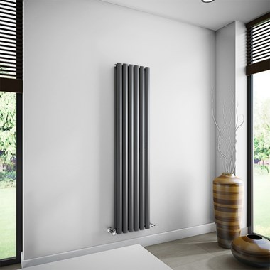 Brenton Oval Double Panel Vertical Radiator - 350 x 1500mm