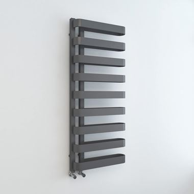 Brenton Grey Flat Panel Heated Towel Rail - 1300 x 500mm