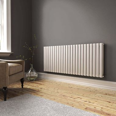 Brenton Oval Double Panel Horizontal Radiator - 600 x 1420mm