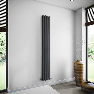 Brenton Oval Double Panel Vertical Radiator - 235 x 1800mm