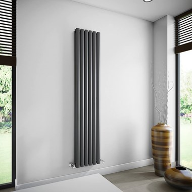 Brenton Oval Double Panel Vertical Radiator - 1800 x 360mm