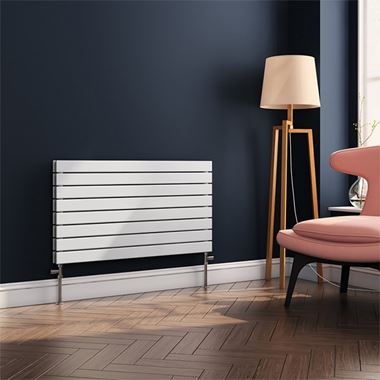 Brenton Ruby Flat Panel Horizontal Designer Radiator - White - H550 x W1000mm