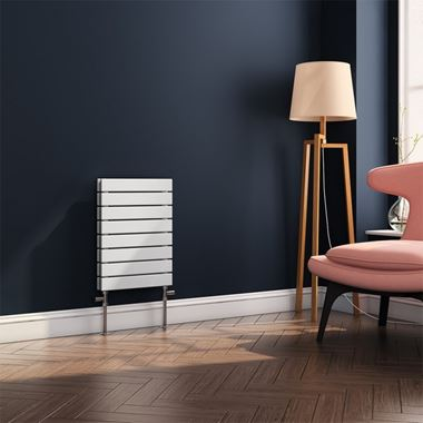 Brenton Ruby Flat Panel Horizontal Designer Radiator - White - H550 x W400mm