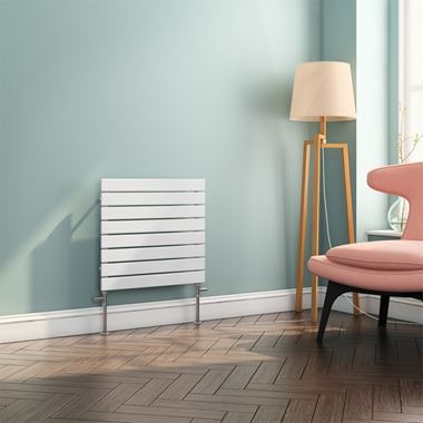Brenton Ruby Flat Panel Horizontal Designer Radiator - White - H550 x W600mm