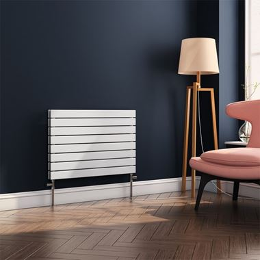Brenton Ruby Flat Panel Horizontal Designer Radiator - White - H550 x W800mm