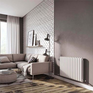 Brenton Saturnia White Horizontal Column Radiator - 600 x 865mm