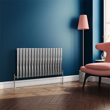Brenton Steel Horizontal Oval Tube Designer Radiator - Chrome - H550 x W1003mm