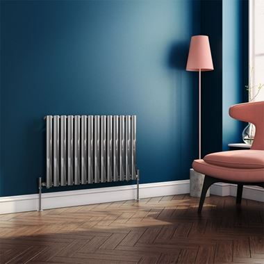 Brenton Steel Horizontal Oval Tube Designer Radiator - Chrome - H550 x W826mm