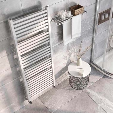 Brenton Pagosa White Heated Towel Rail - Double Layer Design - 1600 x 550mm
