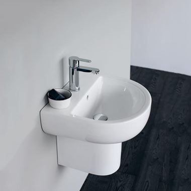 Britton Bathrooms Compact Semi-Pedestal - 450mm, 550mm & 650mm